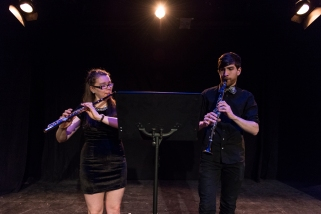 Claire Ahern and Marc Blouin, festival artists 2014. Photo by Chris Parent.