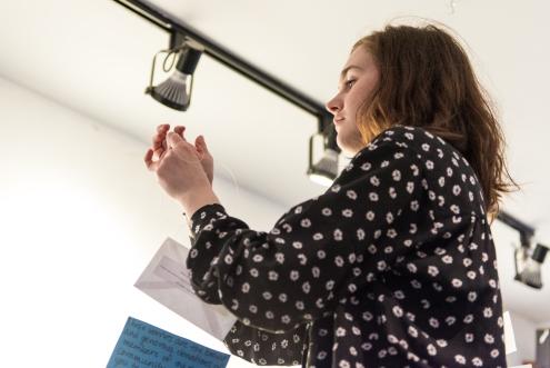 Laura Gallagher-Doucette, festival artist 2014. Photo by Chris Parent.